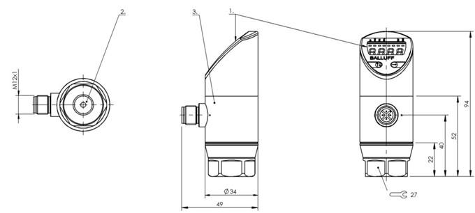 压力传感器 BSP V010-EV002-A02A0B-S4-Z03